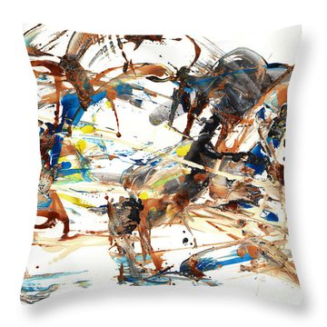 Throw Pillow featuring the painting Abstract Expressionism Painting Series 1042.050812 by Kris Haas