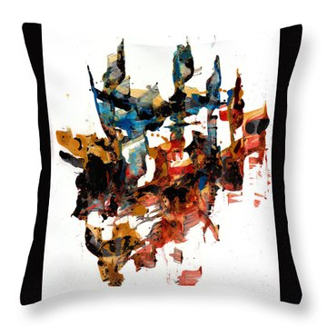 Abstract Expressionism Painting Series 750.102910 Throw Pillow