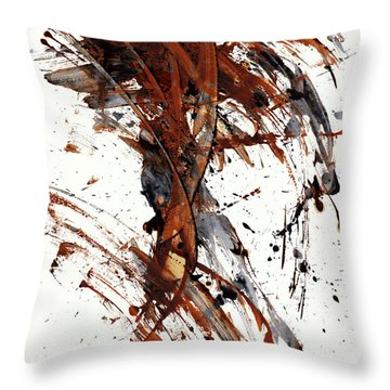 Abstract Expressionism Series 51.072110 Throw Pillow by Kris Haas