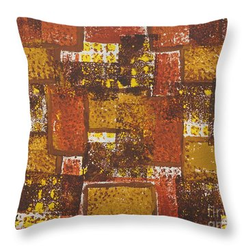 Abstract_ Fall  Throw Pillow