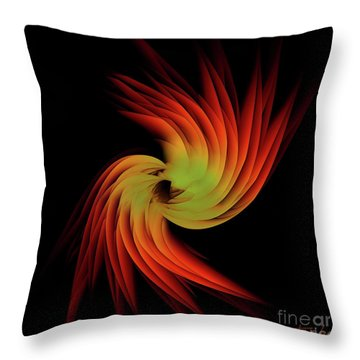 Abstract Feather 1 Throw Pillow