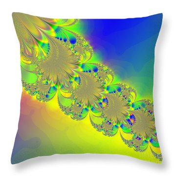 Abstract Feather 2 Throw Pillow by Linda Phelps