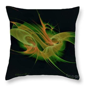 Throw Pillow featuring the digital art Abstract Ffz by Deborah Benoit