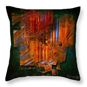 Abstract Fields Throw Pillow