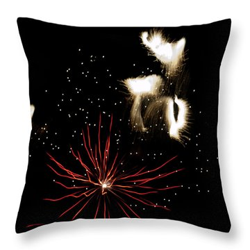 Abstract Fireworks IIi Throw Pillow