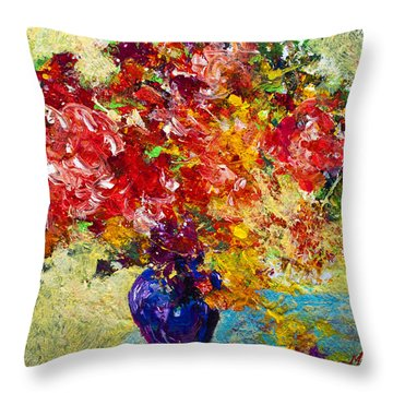 Abstract Floral 1 Throw Pillow