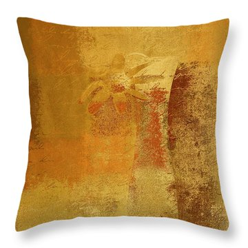Abstract Floral - 14v2ct01a Throw Pillow