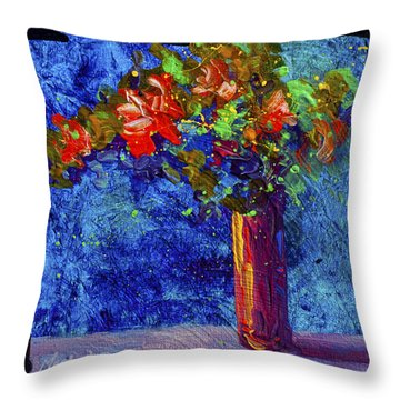 Abstract Floral 2 Throw Pillow