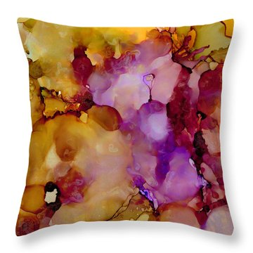 Abstract Floral #22 Throw Pillow
