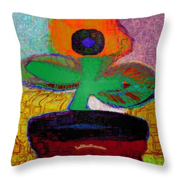 Abstract Floral Art 116 Throw Pillow