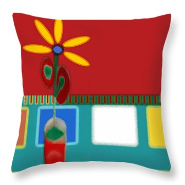 Abstract Floral Art 129 Throw Pillow