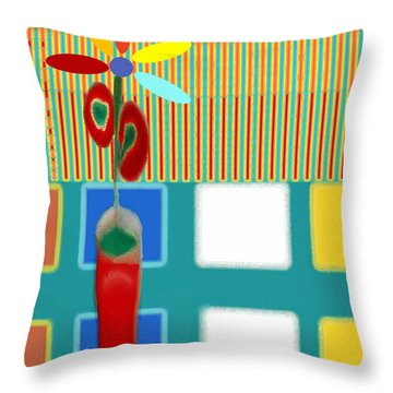 Abstract Floral Art 130 Throw Pillow