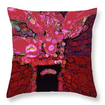 Abstract Floral Art 160 Throw Pillow