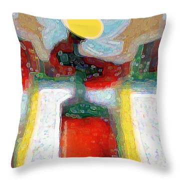 Abstract Floral Art 208 Throw Pillow
