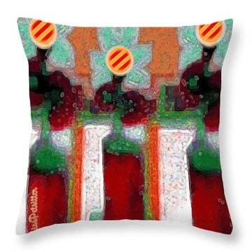 Abstract Floral Art 211 Throw Pillow
