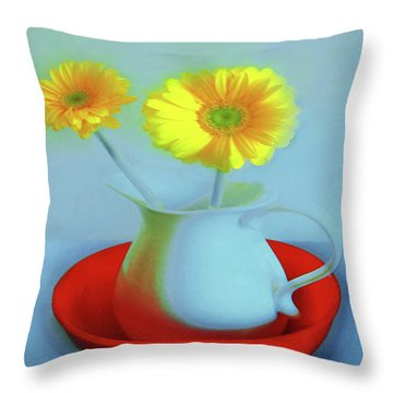Abstract Floral Art 268 Throw Pillow