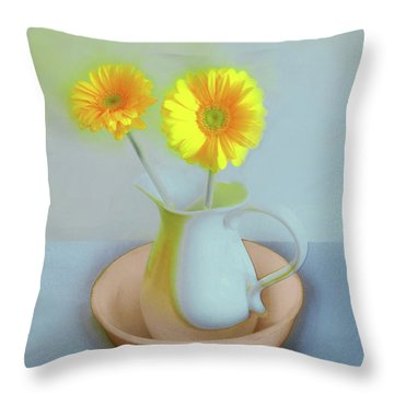 Abstract Floral Art 302 Throw Pillow
