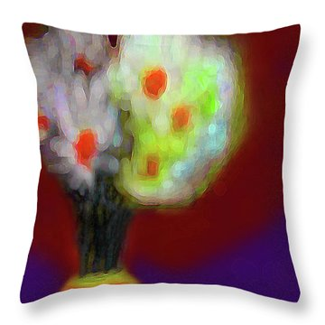 Abstract Floral Art 340 Throw Pillow