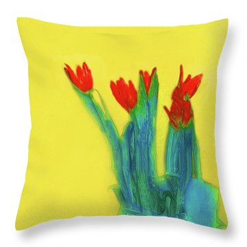 Abstract Floral Art 345 Throw Pillow