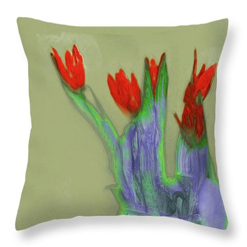 Abstract Floral Art 346 Throw Pillow