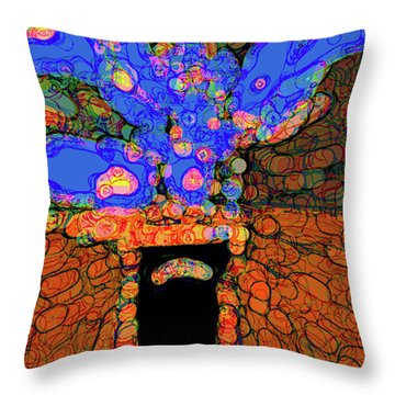 Abstract Floral Art 77 Throw Pillow