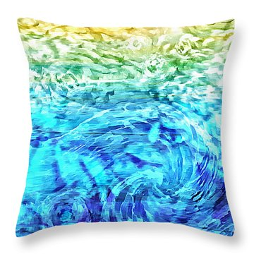Throw Pillow featuring the painting Abstract Floral Dl312016 by Mas Art Studio