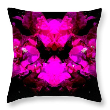 Abstract Floral No.2 Throw Pillow