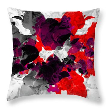 Abstract Floral No.3 Throw Pillow
