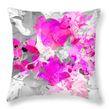Abstract Floral No.4 Throw Pillow