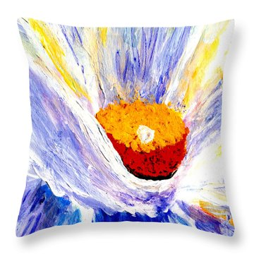 Abstract Floral Painting 001 Throw Pillow