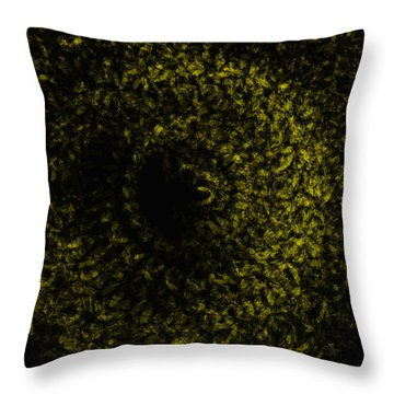 Abstract Floral Swirl No.1 Throw Pillow