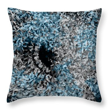 Abstract Floral Swirl No.2 Throw Pillow
