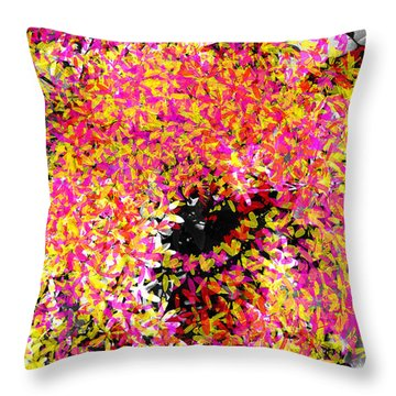 Abstract Floral Swirl No.3 Throw Pillow