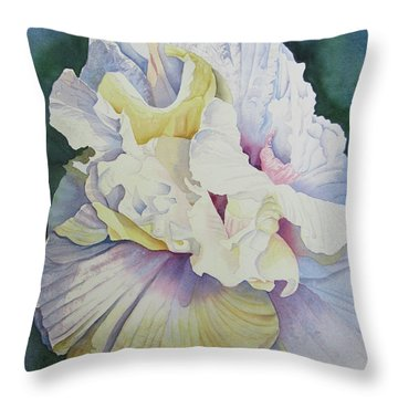 Throw Pillow featuring the painting Abstract Floral by Teresa Beyer