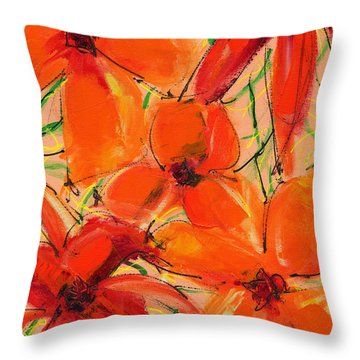 Abstract Floral Two Throw Pillow