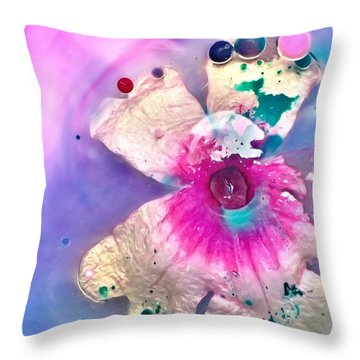 Abstract Flower 1 Throw Pillow
