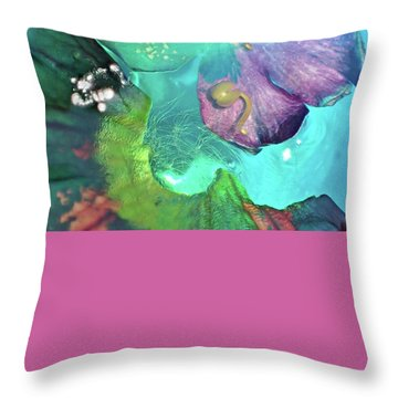 Abstract Flower 3 Throw Pillow