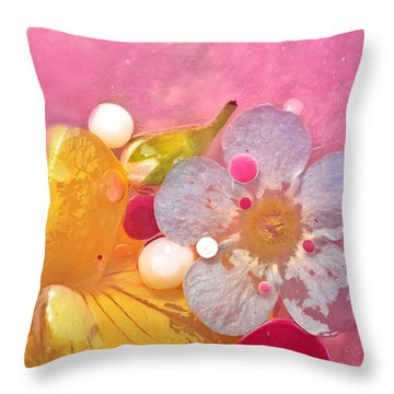 Abstract Flower 4 Throw Pillow
