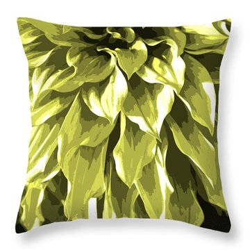 Abstract Flower 5 Throw Pillow