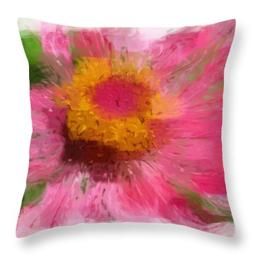 Abstract Flower Expressions Throw Pillow