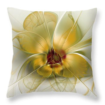 Abstract Flower With Silky Elegance Throw Pillow