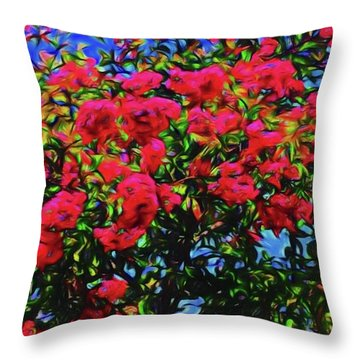 Abstract Flowers 83 Throw Pillow