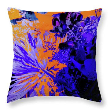 Abstract Flowers Of Light Series #1 Throw Pillow