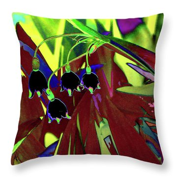 Abstract Flowers Of Light Series #10 Throw Pillow