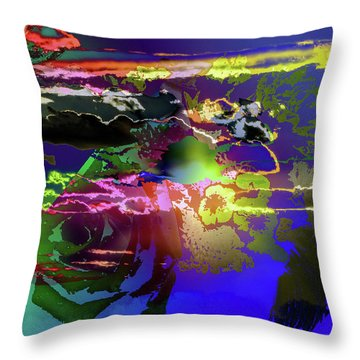 Abstract Flowers Of Light Series #11 Throw Pillow