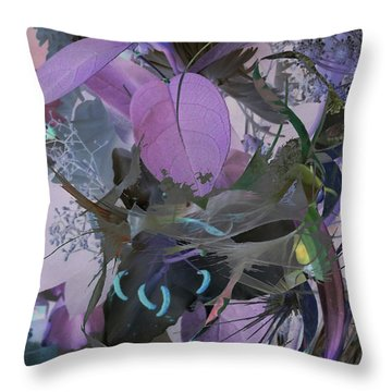 Abstract Flowers Of Light Series #12 Throw Pillow