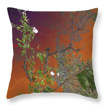 Abstract Flowers Of Light Series #13 Throw Pillow