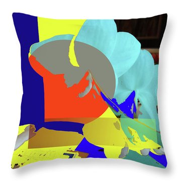 Abstract Flowers Of Light Series #14 Throw Pillow