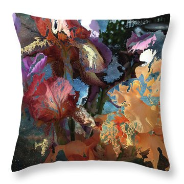Abstract Flowers Of Light Series #15 Throw Pillow