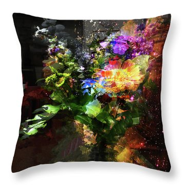 Abstract Flowers Of Light Series #17 Throw Pillow